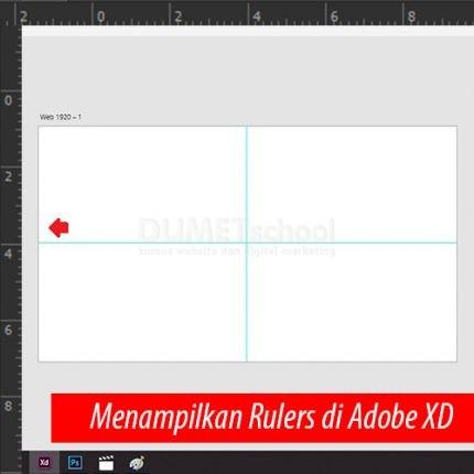 7. Cara Menggunakan Rulers di Adobe XD
