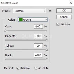 Mengubah Warna Daun di Adobe Photoshop