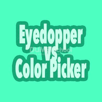 Memilih Warna Dengan Eyedopper dan Color Picker