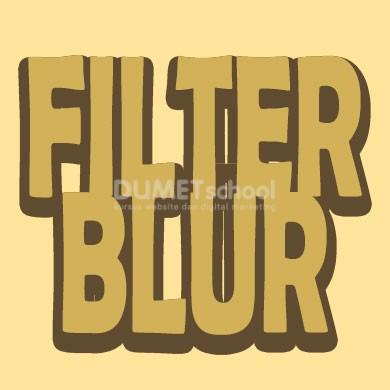 Memahami Beberapa Blur Filter di Photoshop