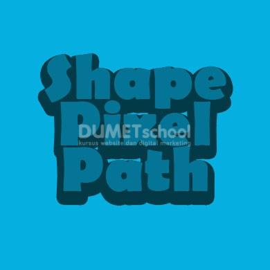 Perbedaan antara shape, path dan pixel