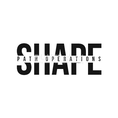 Mengetahui Path Operation dalam shape di Adobe Photoshop