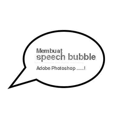 Membuat Speech Bubble di Adobe Photoshop