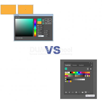 Perbedaan Swatches dan Color Picker di Adobe Illustrator