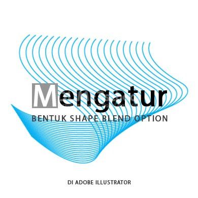 mengatur bentuk shape blend option di adobe illustrator