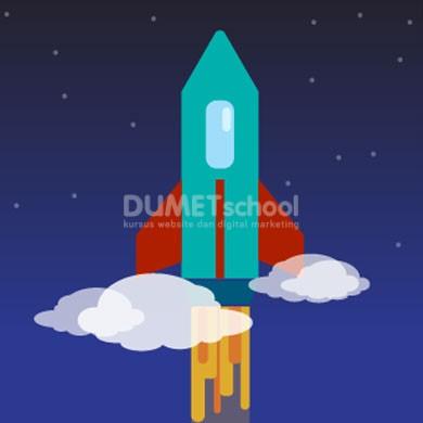 Membuat Flat Design Roket di Adobe Illustrator