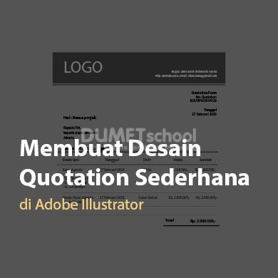 Membuat Desain Quotation Sederhana di Adobe Illustrator