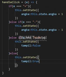 Cara membuat condition rendering pada reactjs