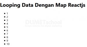 Cara Looping Data Dengan Map di Reactjs