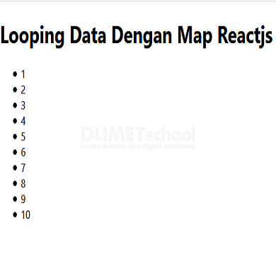 Cara Looping Data Dengan Map di Reactjs
