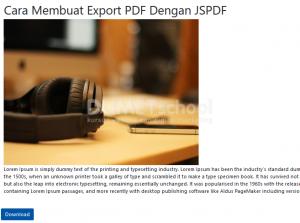 Cara Membuat Export PDF Dengan JSPDF