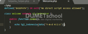 Cara Membuat Format Tanggal Di Dalam Helper Codeigniter
