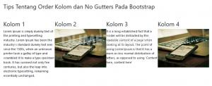 Tips Tentang Order Kolom dan No Gutters Pada Bootstrap
