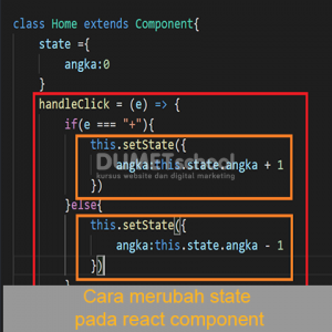 Cara merubah state pada react component