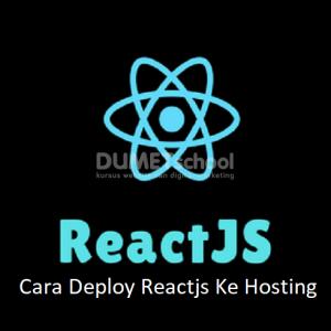 Cara Deploy Reactjs Ke Hosting