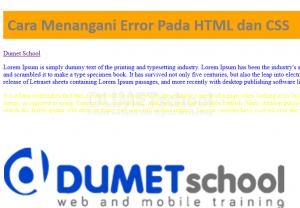 Cara Menangani Error Pada HTML dan CSS