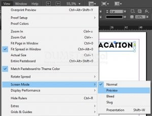 Mode Preview Pada Adobe Indesign