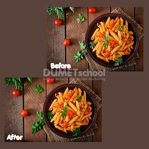 Mengubah Warna Daun Pada Pasta di Photoshop