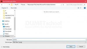 Menyimpan File Untuk Microsoft di Adobe Illustrator