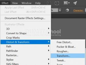 Membuat Typography Dengan Menggunakan Transfrom Tool