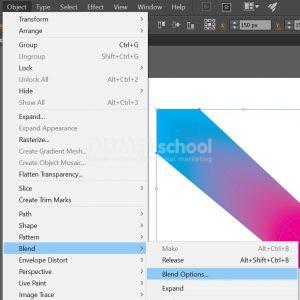 Mengatur Jarak Pada Objek Blend di Illustrator