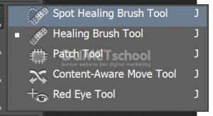 Menggunakan Healing Tool Pada Gambar