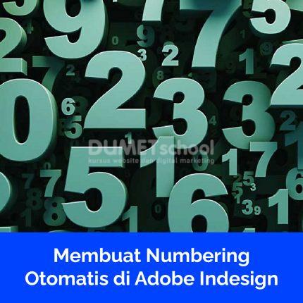 Membuat Numbering Otomatis di Adobe Indesign
