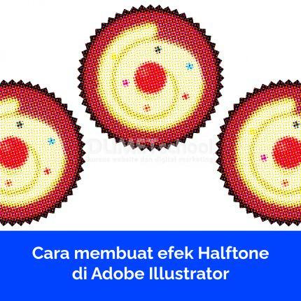 Cara membuat efek Halftone di Adobe Illustrator