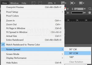 Cara Rotate Page di Adobe Indesign