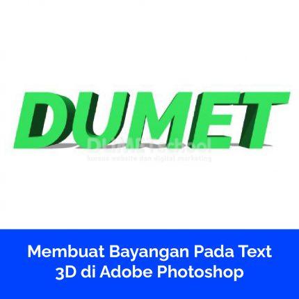 Membuat Bayangan Pada Text 3D di Adobe Photoshop