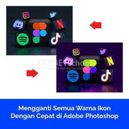 Mengganti Semua Warna Ikon Dengan Cepat di Adobe Photoshop